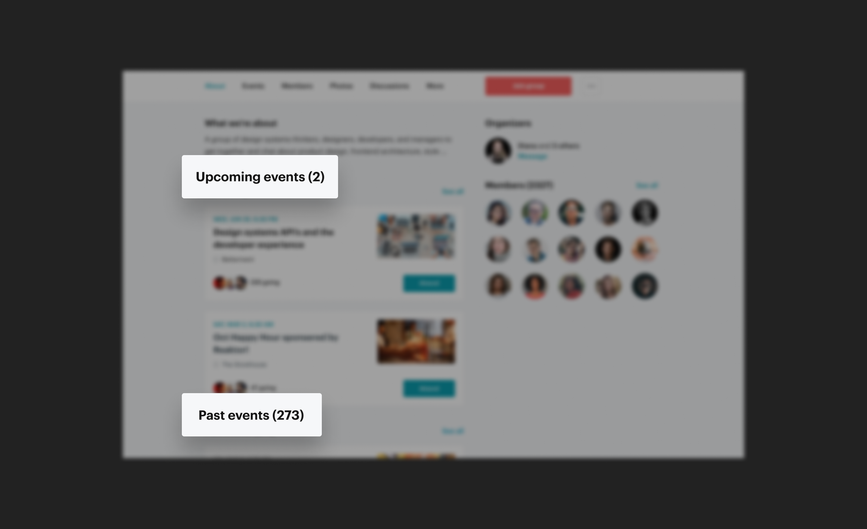Thumbnail image of meetup groups project